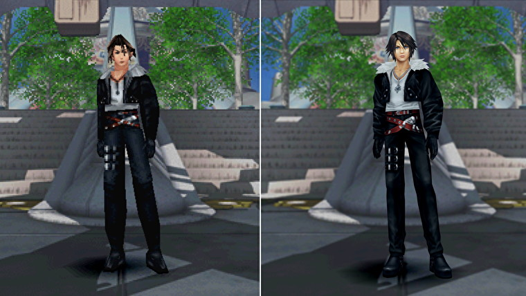 test final fantasy 8 remastered Squall comparaison